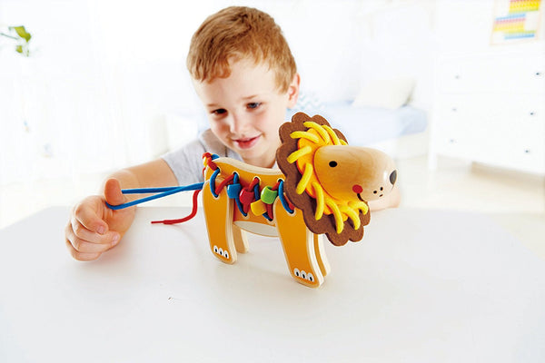 Lacing Lion Educational Toy By Hape - Bloxx Toys - Toronto Online Toys Store - 2