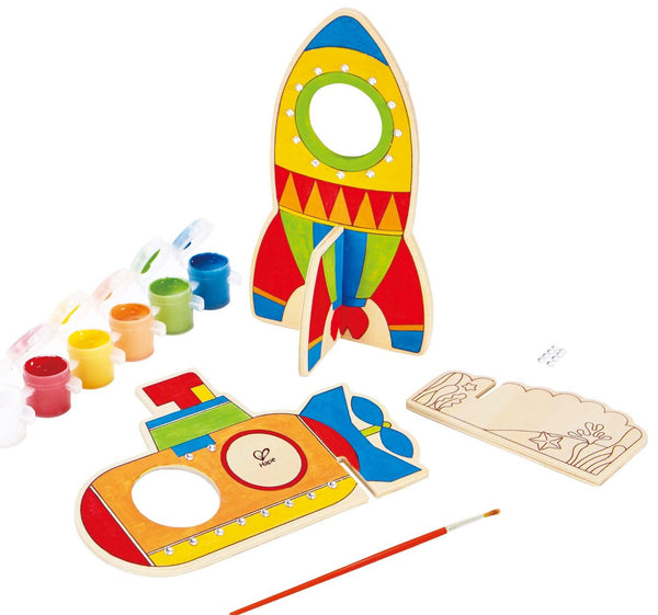 Space Voyage Arts and Crafts Kit By Hape - Bloxx Toys - Toronto Online Toys Store - 3