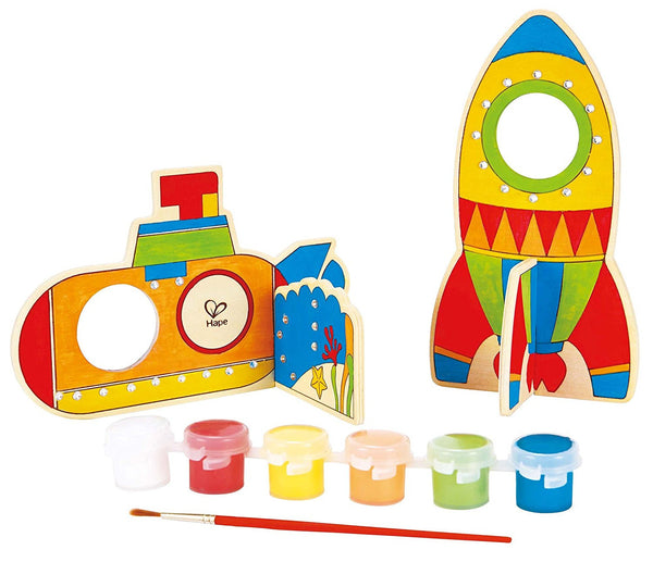 Space Voyage Arts and Crafts Kit By Hape - Bloxx Toys - Toronto Online Toys Store - 4