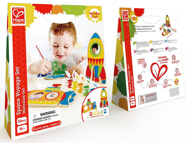 Space Voyage Arts and Crafts Kit By Hape - Bloxx Toys - Toronto Online Toys Store - 2