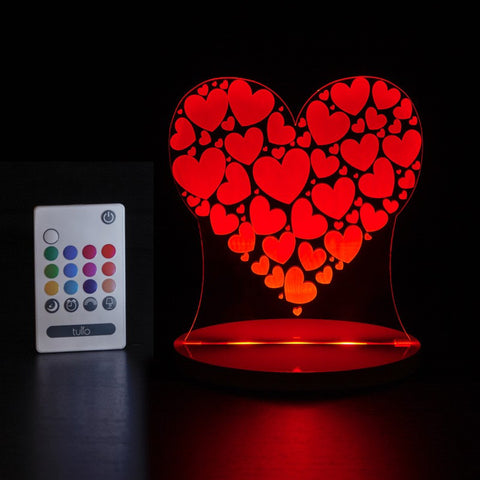 Heart Multi Coloured LED Night Light By Tulio Dream Lights - Bloxx Toys - Toronto Online Toys Store