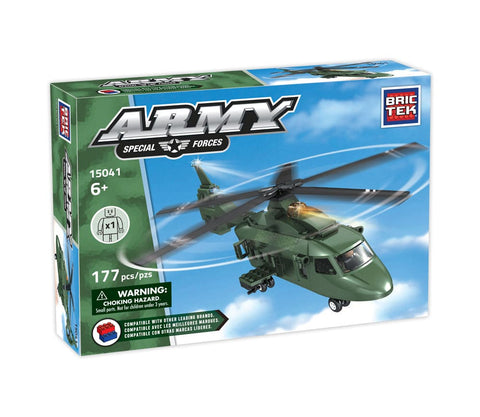 Helicopter Z9- Army By Brictek - Bloxx Toys - Toronto - Educational Online Toys Store Canada
