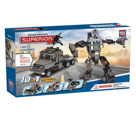 Heroes Hyperobot 10 in 1 by BricTek - Bloxx Toys - Toronto, Montreal, Vancouver, Kids, Building Toys, Shopping online, Ontario, Quebec, - Educational Online Toys Store Canada