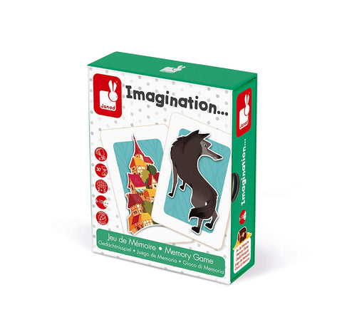 Imagination  Educational Memory Game By Janod-Bloxx Toys - Toronto toys, toy, Montreal toys, toy, Vancouver toys, toy, Alberta toys, toy, Ontario toys, Toy Quebec toys, - Educational toys Online Toys Store Canada