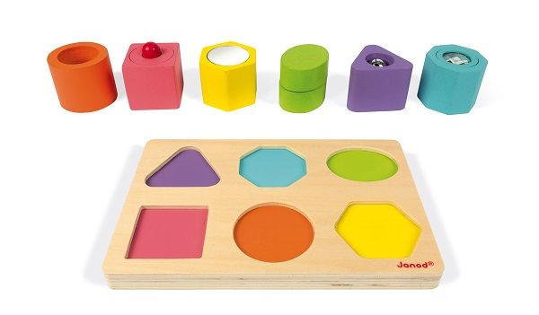 Iwood Shapes & Puzzle 6 Blocks By Janod - BloxxToys Canada