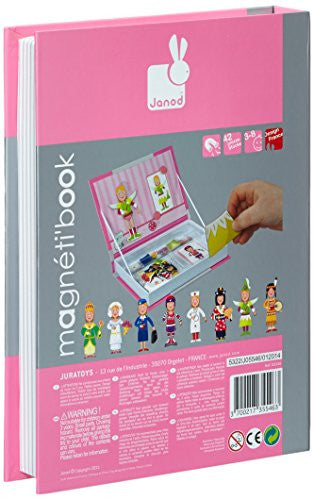 Janod Girl's Outfits Magnetic Book -  box/34 pcs - Bloxx Toys - Toronto Online Toys Store - 4