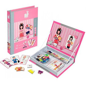Janod Girl's Outfits Magnetic Book -  box/34 pcs - Bloxx Toys - Toronto Online Toys Store - 3