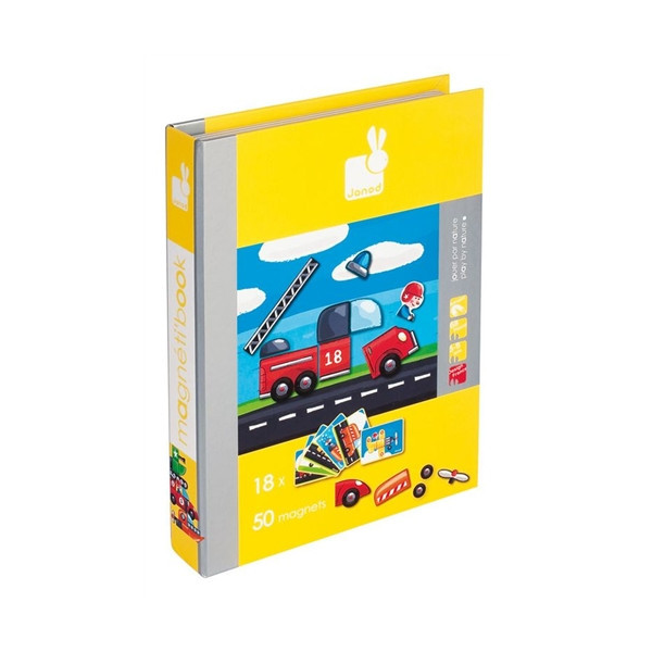 Cars and Vehicles Magnetic Book By Janod - Bloxx Toys - Toronto Online Toys Store - 1