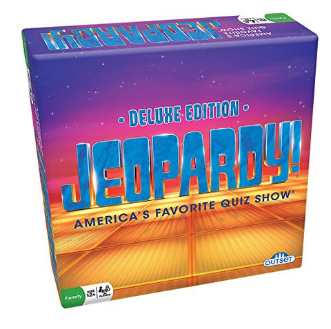 Jeopardy Deluxe Edition Party Game By Outset - Bloxx Toys - Toronto, Montreal, Vancouver, Alberta, Edmonton, Nova Scotia, Northwest Territories, Yukon Ontario, Quebec, - Educational Online Toys Store Canada