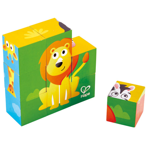 Jungle Animals Blocks Puzzle By Hape