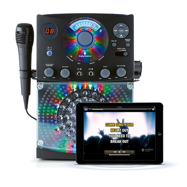 Karaoke Bluetooth & Lights - Black | Musical Bluetooth Karaoke
