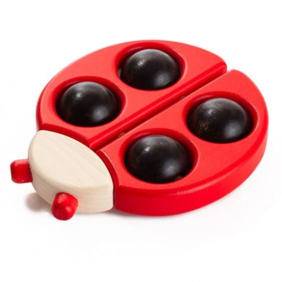 LadyBug  Roller Rattle - Red By Bajo