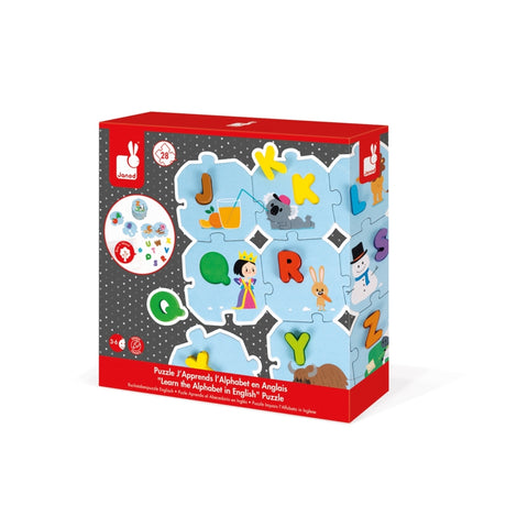 Learn the Alphabet Puzzle - English By Janod-Bloxx Toys - Toronto toys, toy, Montreal toys, toy, Vancouver toys, toy, Alberta toys, toy, Ontario toys, Toy Quebec toys, - Educational toys Online Toys Store Canada