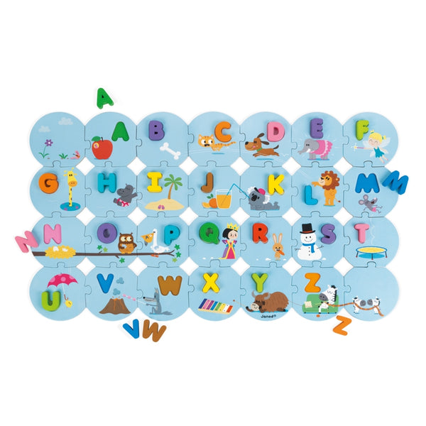 Learn the Alphabet Puzzle - French By Janod-Bloxx Toys - Toronto toys, toy, Montreal toys, toy, Vancouver toys, toy, Alberta toys, toy, Ontario toys, Toy Quebec toys, - Educational toys Online Toys Store Canada