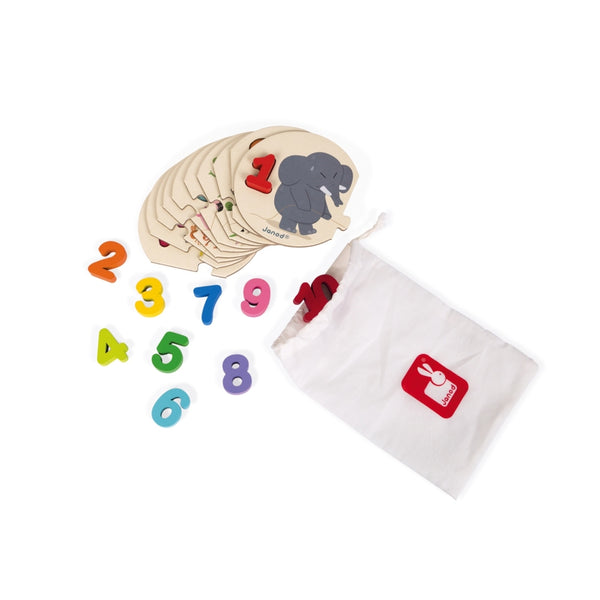 Learn to Count Educational Puzzle By Janod-Bloxx Toys - Toronto toys, toy, Montreal toys, toy, Vancouver toys, toy, Alberta toys, toy, Ontario toys, Toy Quebec toys, - Educational toys Online Toys Store Canada