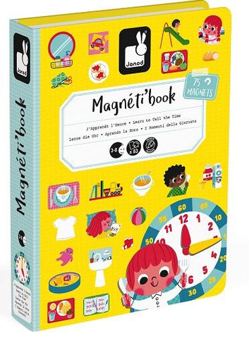 Learn to Tell Time Magnetic Book  By Janod-Bloxx Toys - Toronto toys, toy, Montreal toys, toy, Vancouver toys, toy, Alberta toys, toy, Ontario toys, Toy Quebec toys, - Educational toys Online Toys Store Canada