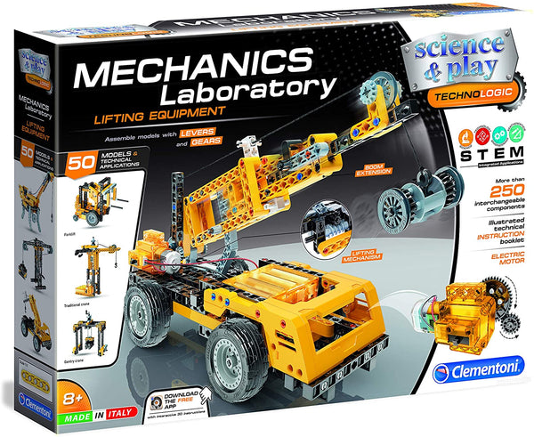 Lifting Equipment Mechanics Laboratory Bilingual By Clementoni -Bloxx Toys-Toronto toys, toy,Autism Toys, Ontario toys, Quebec toys, Children Toys,Kids Toys,Educational toys, Online Toys Store Canada