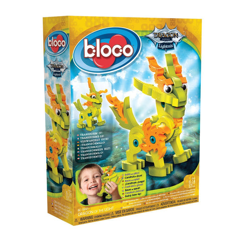 Lightnix Dragon of the Light Foam Blocks By Bloco - Bloxx Toys - Toronto Online Toys Store - 1
