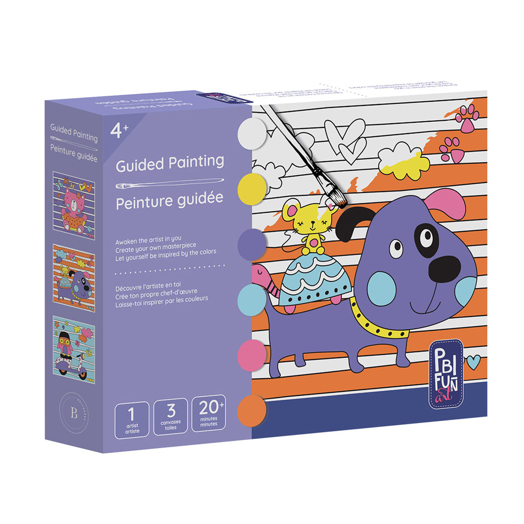 GUIDED PAINTING - PURPLE DOG by PBI Fun Art