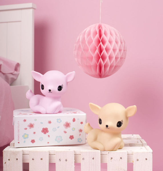 Little Light Deer Pink By Little Lovely -Bloxx Toys-Toronto toys, toy, Canada, Decor, Room Decor, Autism Toys, Ontario toys, Quebec toys, Children Toys,Kids Toys,Educational toys, Online Toys Store Canada