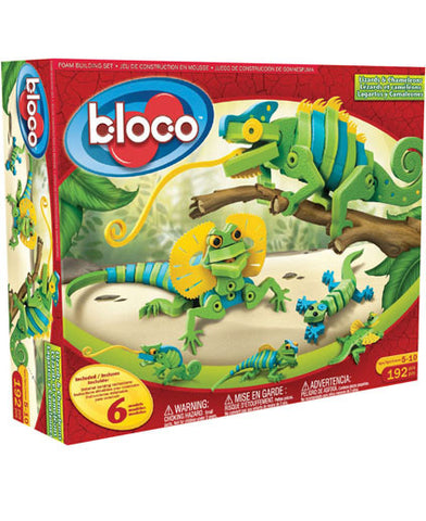 Lizards & Chameleons Foam Blocks By Bloco - Bloxx Toys - Toronto Online Toys Store - 1