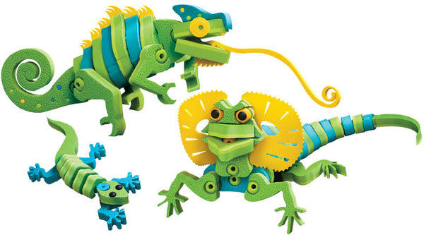 Lizards & Chameleons Foam Blocks By Bloco - Bloxx Toys - Toronto Online Toys Store - 2