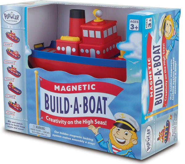Magnetic Build-a-Boat by Popular Playthings - Bloxx Toys - Toronto Online Toys Store - 1