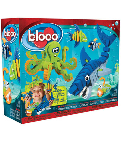 Marine Creatures Foam Blocks By Bloco - Bloxx Toys - Toronto Online Toys Store - 1