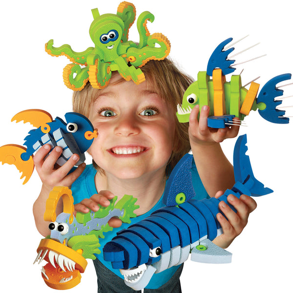 Marine Creatures Foam Blocks By Bloco - Bloxx Toys - Toronto Online Toys Store - 2