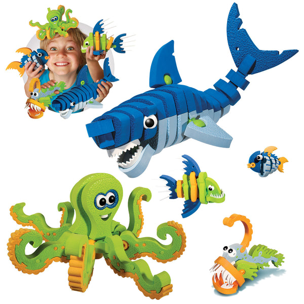 Marine Creatures Foam Blocks By Bloco - Bloxx Toys - Toronto Online Toys Store - 3