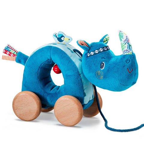 Marius Pull Along Rhino By Lilliputiens | Baby Toys Canada