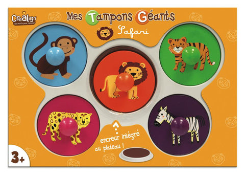 Mega Large Stamps - Safari By Crealign - BloxxToys Canada