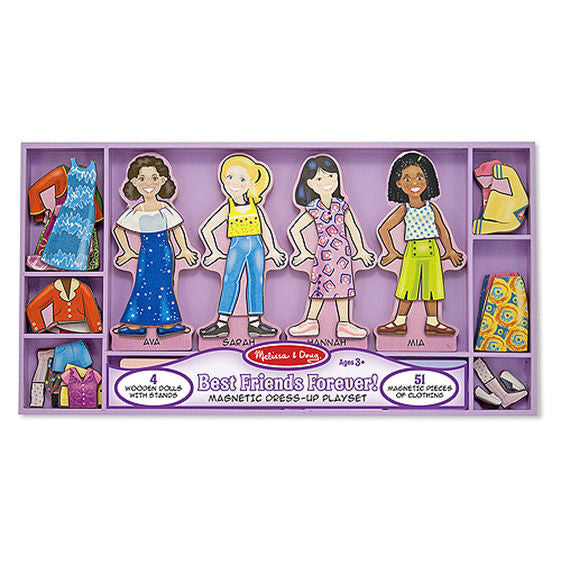Best Friends Forever! Magnetic Dress-Up Set By Melissa & Doug - Bloxx Toys - Toronto Online Toys Store - 1
