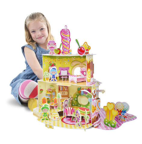 Home Sweet Home 3D Puzzle & Dollhouse In One By Melissa & Doug - Bloxx Toys - Toronto Online Toys Store - 3