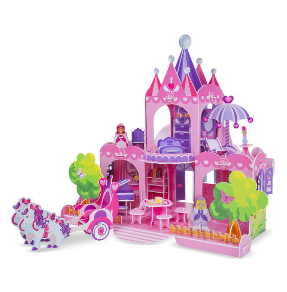 Pink Palace 3D Puzzle & Dollhouse in One By Melissa & Doug - Bloxx Toys - Toronto Online Toys Store - 2