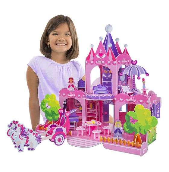 Pink Palace 3D Puzzle & Dollhouse in One By Melissa & Doug - Bloxx Toys - Toronto Online Toys Store - 3