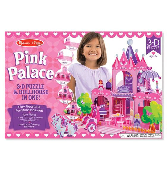 Pink Palace 3D Puzzle & Dollhouse in One By Melissa & Doug - Bloxx Toys - Toronto Online Toys Store - 1