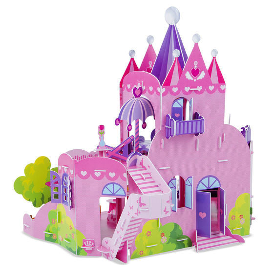 Pink Palace 3D Puzzle & Dollhouse in One By Melissa & Doug - Bloxx Toys - Toronto Online Toys Store - 4