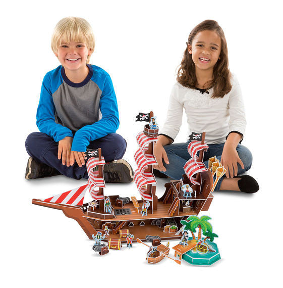 Pirate Ship 3D Puzzle and Play Set In One By Melissa & Doug - Bloxx Toys - Toronto Online Toys Store - 5
