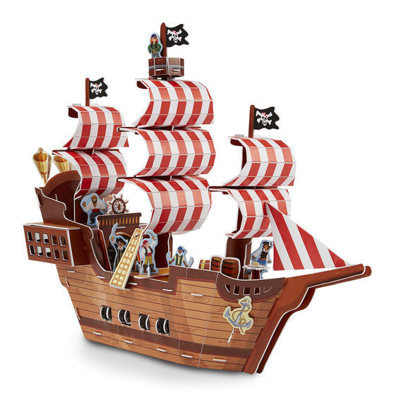 Pirate Ship 3D Puzzle and Play Set In One By Melissa & Doug - Bloxx Toys - Toronto Online Toys Store - 4