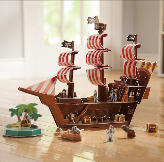 Pirate Ship 3D Puzzle and Play Set In One By Melissa & Doug - Bloxx Toys - Toronto Online Toys Store - 3