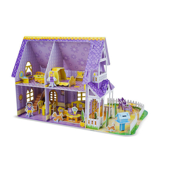 Pretty Purple Dollhouse 3D Puzzle & Dollhouse In One By Melissa & Doug - Bloxx Toys - Toronto Online Toys Store - 2