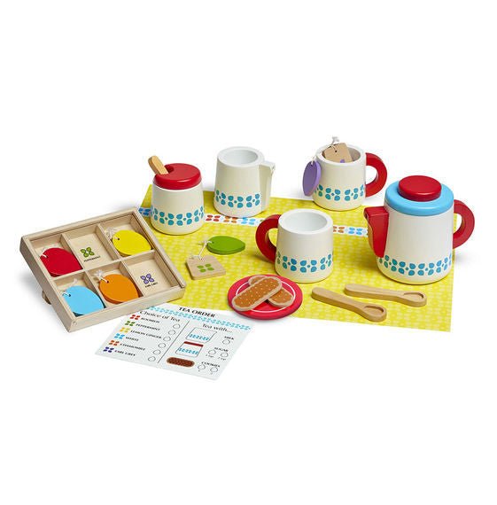 Wooden Steep & Serve Tea Set By Melissa & Doug - Bloxx Toys - Toronto Online Toys Store - 2