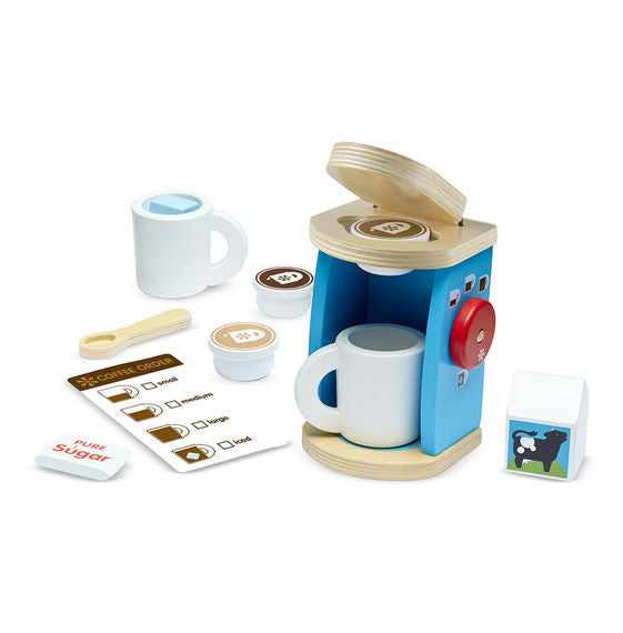 Wooden Brew & Serve Coffee Set By Melissa & Doug - Bloxx Toys - Toronto Online Toys Store - 2