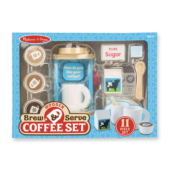 Wooden Brew & Serve Coffee Set By Melissa & Doug - Bloxx Toys - Toronto Online Toys Store - 1