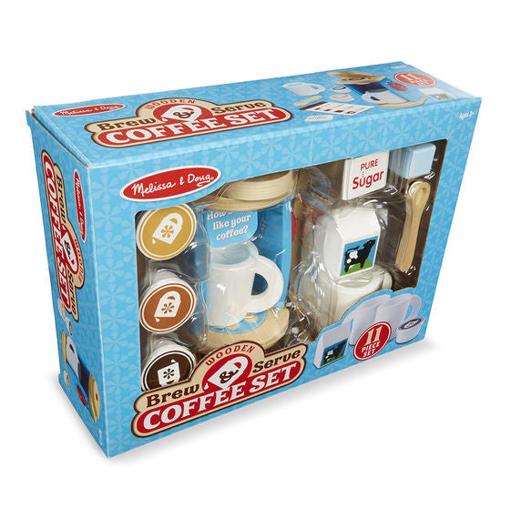 Wooden Brew & Serve Coffee Set By Melissa & Doug - Bloxx Toys - Toronto Online Toys Store - 3