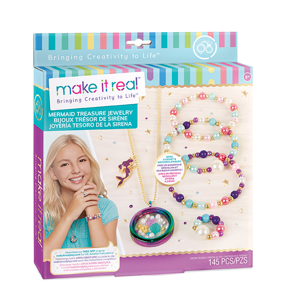 Mermaid treasure jewelry By Make it Real - Bloxx Toys - Toronto, Montreal, Vancouver, Kids, Building Toys, Shopping online, Ontario, Quebec, - Educational Online Toys Store Canada