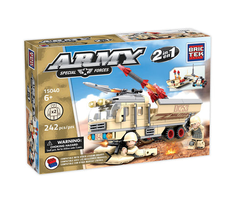 Missile Launch Vehicle 2 in 1 By Brictek® - Bloxx Toys - Toronto, Montreal, Vancouver, Kids, Building Toys, Shopping online, Ontario, Quebec, - Educational Online Toys Store Canada