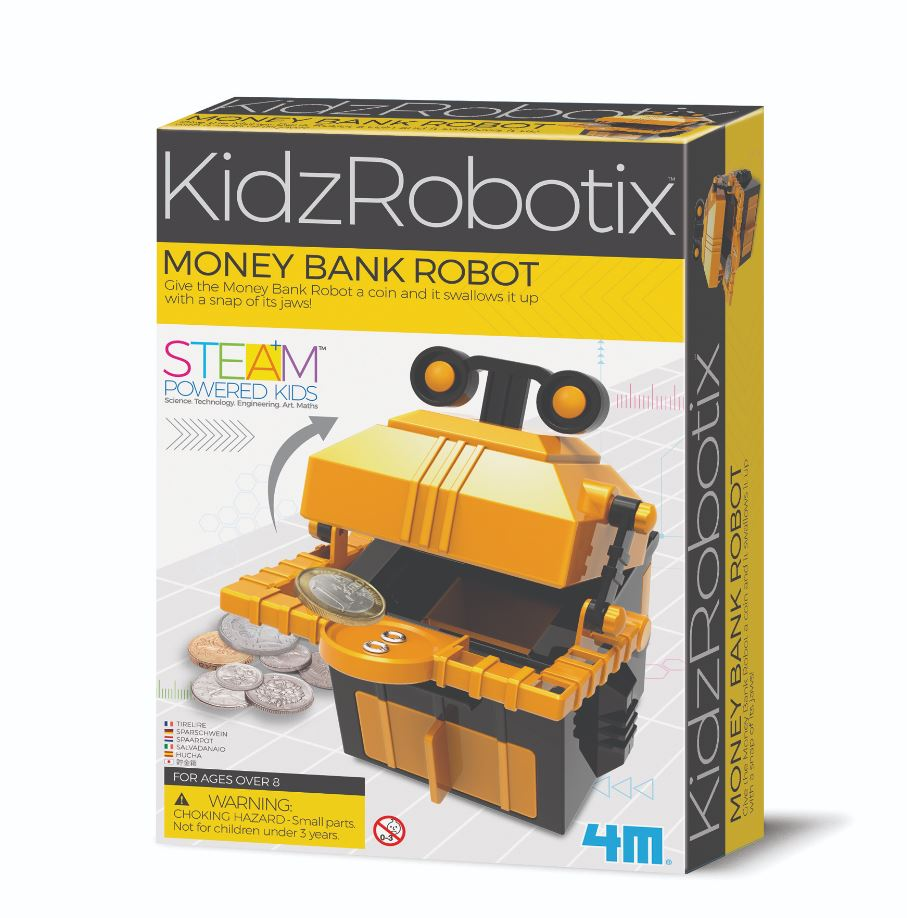 Money Bank Robot By 4M - Bloxx Toys - Toronto, Montreal, Vancouver, Alberta, Edmonton, Kids, Parents, Present, Shopping online, Ontario, Quebec, - Educational Online Toys Store Canada