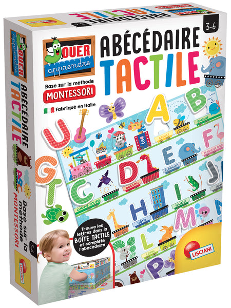 Montessori - Alphabet tactile French version By Lisciani | Toy